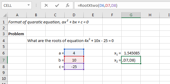 Finding Roots of Quadratic Equation